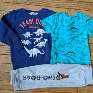 H&M Dinosaur Clothing Lot Shirt Pants